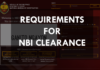 REQUIREMENTS FOR NBI CLEARANCE ONLINE