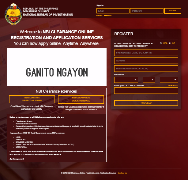 NBI clearance for foreigners online registration nbi clearance for foreigners NBI CLEARANCE FOR FOREIGNERS ONLINE REGISTRATION NBI Registration