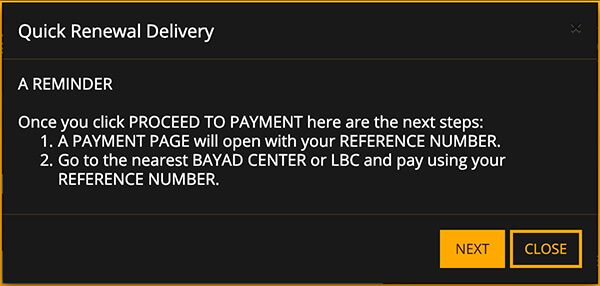 NBI Clearance Online Quick Renewal Next Button nbi clearance quick renewal NBI CLEARANCE QUICK RENEWAL STEP BY STEP NBI Clearance Online Quick Renewal Next Button
