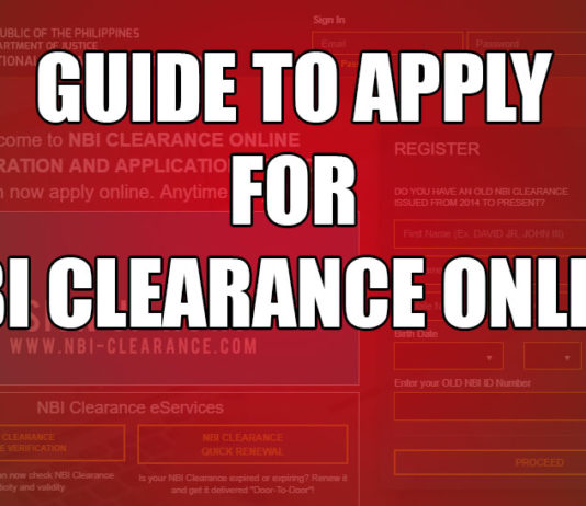 GUIDE TO APPLY NBI CLEARANCE ONLINE