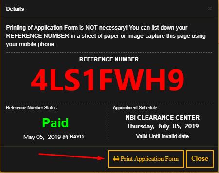 save your nbi clearance online application form SAVE YOUR NBI CLEARANCE ONLINE APPLICATION FORM Screenshot 1