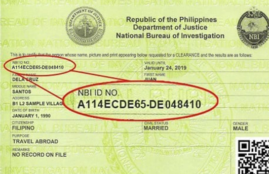 NBI Renewal ID Number sample nbi renewal NBI RENEWAL ONLINE APPLICATION STEP BY STEP GUIDE NBI ID No