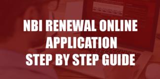 NBI RENEWAL ONLINE APPLICATION STEP BY STEP GUIDE