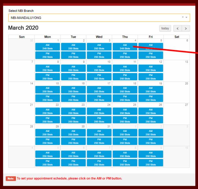 Appointment Schedule - NBI Online Registration nbi online registration NBI ONLINE REGISTRATION | NBI CLEARANCE Appointment Schedule Sample NBI Online Registration