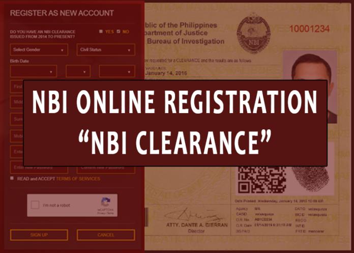 NBI Online Registration NBI Clearance