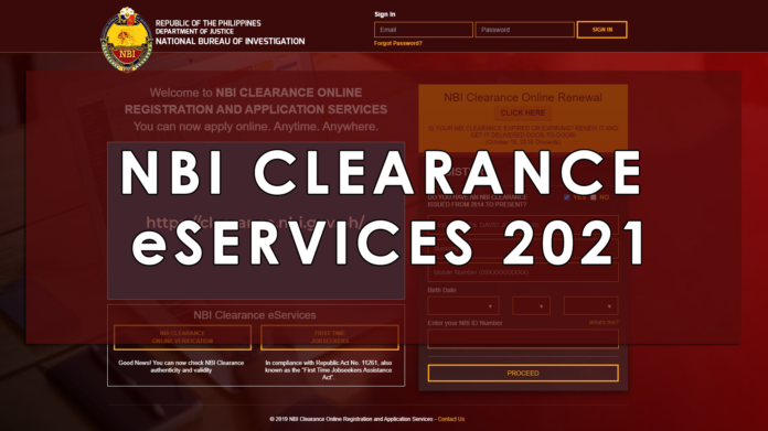 NBI CLEARANCE eSERVICES FOR 2021